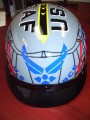 DOT Outlaw T-70 Glossy Motorcycle Half Helmet with US-Air-Force Graphics Officially Licensed Product
