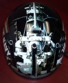 DOT Outlaw T-70 Glossy Motorcycle Half Helmet with Officially Licensed U.S. Navy Graphics
